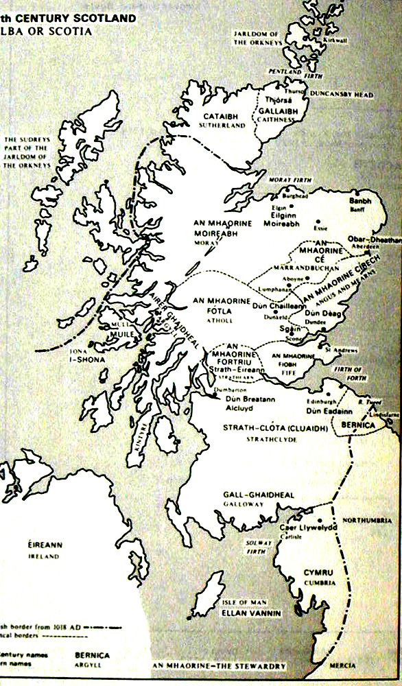 map of 11th century scotland