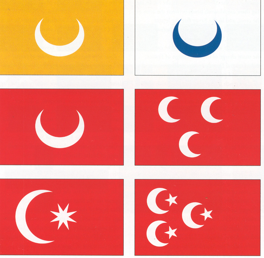 Flag family: Based on Muslim crescent